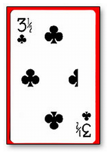 3 1/2 Clubs Card - Bicycle blue back