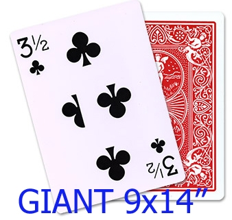 3 1/2 of Clubs (GIANT)