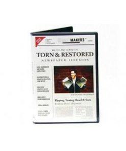 Torn & Restored Newspaper Illusion (DVD) - Ben Salinas