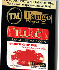 TUC Poker Chip Red plus 3 regular chips (PK002R) by Tango Magic - Trick