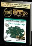 Magnetic Poker Chip Green plus 3 regular chips (PK003G) by Tango Magic - Trick