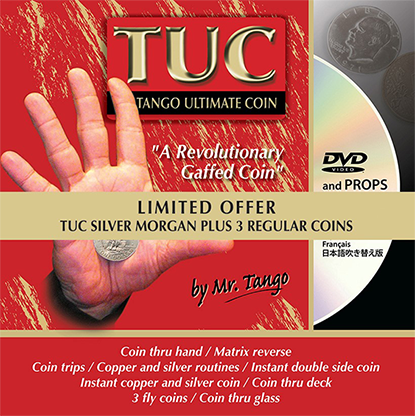 Limited Special Silver TUC Morgan plus 3 Matching Coins by Tango - Trick