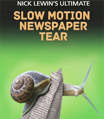 Nick Lewin's Ultimate Slow Motion Newspaper Tear - DVD