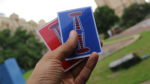 Jerry Nugget Cardistry Trainers Single (Blue Double Backer) by Magic Encarta - Trick