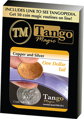Copper and Silver Dollar (Tails) (D0177) by Tango Magic