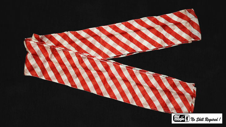"""Production Streamer Zebra 6"""" x 18' (Red and White) by Mr. Magic - Trick"""