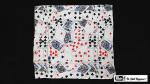 "Production Hanky Multi Card Print (21"" x 21"") by Mr. Magic - Trick"