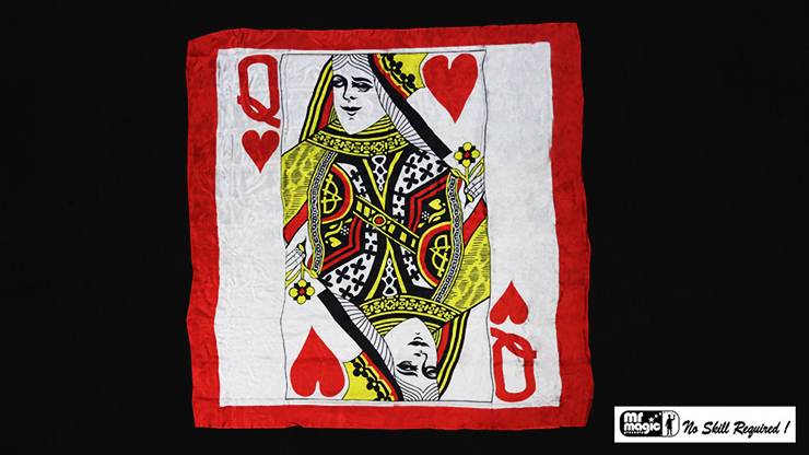 """Production Hanky Queen of Hearts (36"""" x 36"""") by Mr. Magic - Trick"""