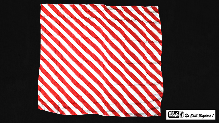 """Production Hanky Zebra Red and White (21"""" x 21"""") by Mr. Magic - Trick"""