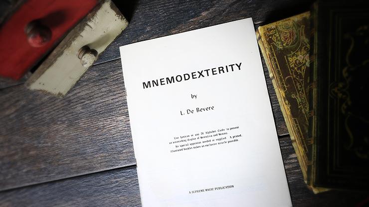 Mnemodexterity by L. De Bevere - Book