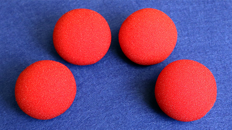 2 inch Regular Sponge Ball (Red) Bag of 4 from Magic by Gosh