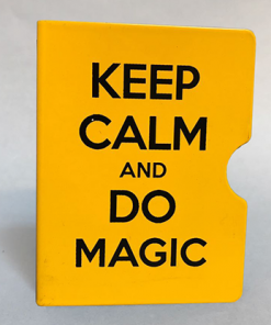 Keep Calm and Do Magic Card Guard (Yellow) by Bazar de Magia