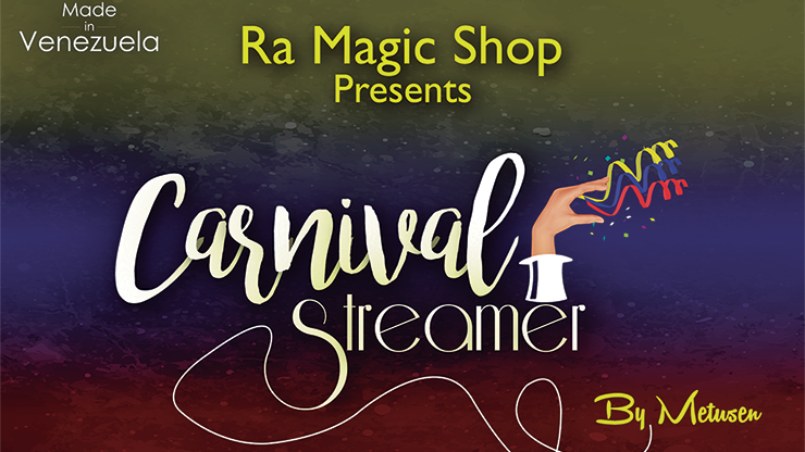 Carnival Streamer Halloween (Orange and Black) by Ra Magic