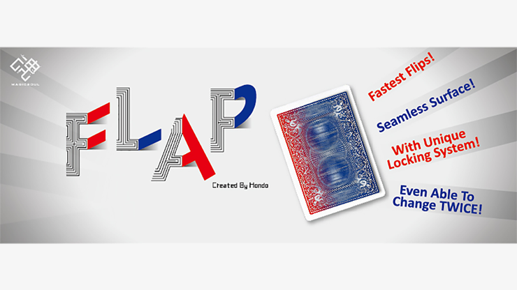Modern Flap Card (Red to Blue) by Hondo