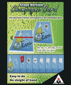 Jumbo Champagne Card (Stage) by Astor - Trick