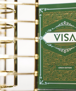 Green VISA Playing Cards by Patrick Kun and Alex Pandrea