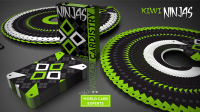 Cardistry Kiwi Ninjas (Green) Playing Cards by World Card Experts