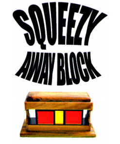 Squeeze Away Block (Teak Wood) by Vincenzo Di Fatta - Tricks