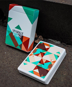 Sparkle Point (Green) Playing Cards