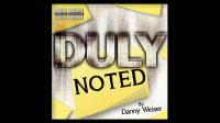 DULY NOTED Blue (Gimmick and Online Instructions) by Danny Weiser - Trick