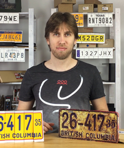 LICENSE PLATE PREDICTION - VINTAGE (Gimmicks and Online Instructions) by Martin Andersen - Trick