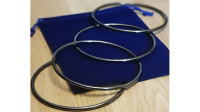 Close Up Linking Rings CHROME BLACK (With Online Instructions) by Matthew Garrett - Trick