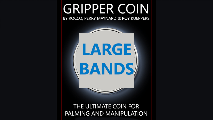 Gripper Coin Bands (Large) by Rocco Silano - Trick
