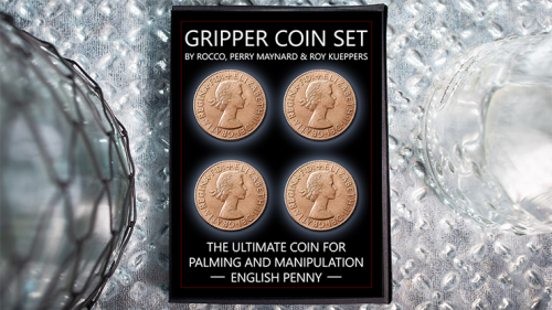 Gripper Coin (Set/ English Penny) by Rocco Silano - Trick