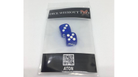 Dice Without Two CLEAR BLUE (2 Dice Set) - Trick