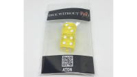 Dice Without Two CLEAR YELLOW (2 Dice Set) - Trick