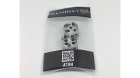 Dice Without Two CLEAR CRYSTAL (2 Dice Set) - Trick
