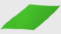 Diamond Cut Silk 24 inch (GREEN) by Magic by Gosh - Trick
