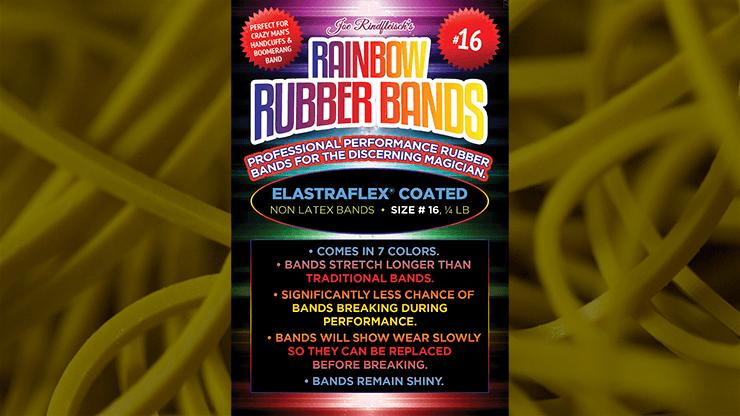 Joe Rindfleisch's SIZE 16 Rainbow Rubber Bands (Russell Leeds -Yellow ) by Joe Rindfleisch - Trick