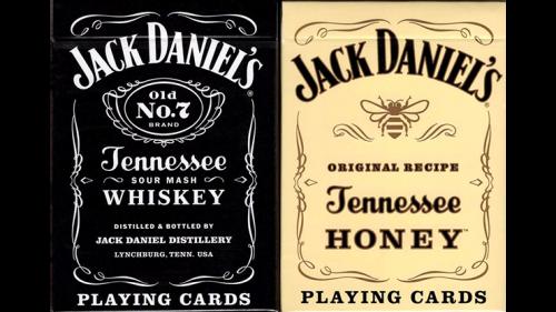 Jack Daniel's Black/Honey Set Playing Cards by USPCC