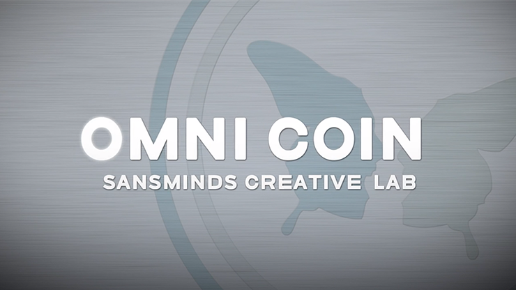 Omni Coin US version (DVD and  2 Gimmicks) by SansMinds Creative Lab - Trick