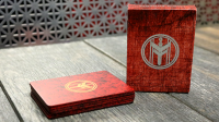 FIBER BOARDS Cardistry Trainers (Jasper Red) by Magic Encarta - Trick
