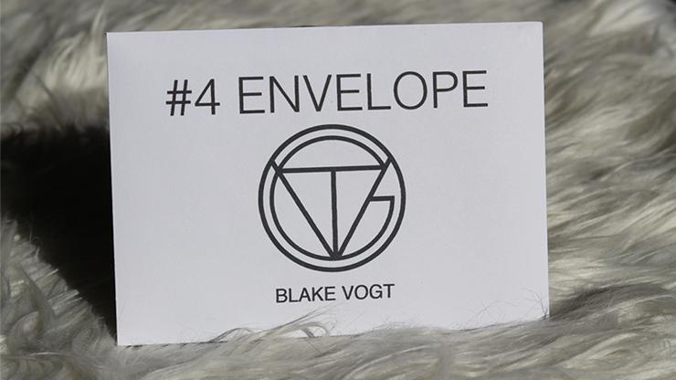 Number 4 Envelope (Gimmicks and Online Instructions) by Blake Vogt - Trick