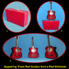 Appearing Guitars from Briefcase (3/Red) by Black Magic - Trick
