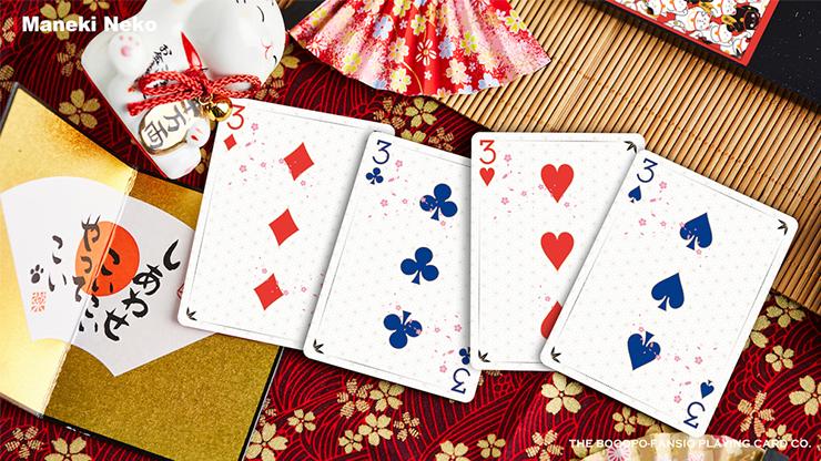 Playing Cards Poker Spielkarten Cardistry Bicycle Maneki Neko RED