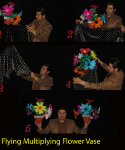 Flying Multiplying Flower Vase by Black Magic - Trick