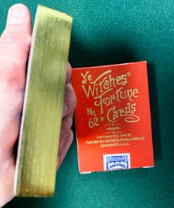 Limited Edition Ye Witches' Gold Gilded Fortune Cards (2 Way Back)(RED BOX)
