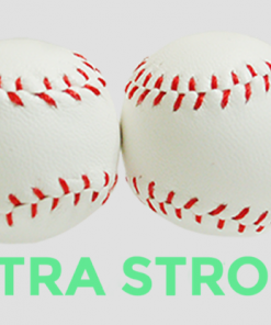 Strong Chop Cup Balls White Leather (Set of 2) by Leo Smetsers - Trick