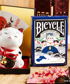 Bicycle Maneki Neko (Blue) Playing Cards by Bocopo