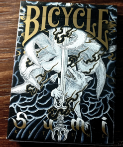 Bicycle Sumi Kitsune Myth Maker (blue) Playing Cards by Card Experiment