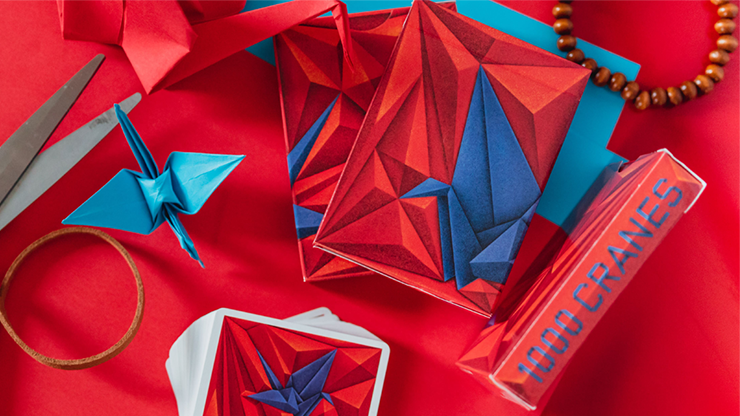 1000 Cranes Playing Cards by Riffle Shuffle