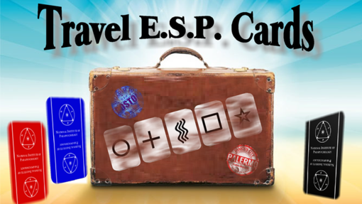 Travel ESP Cards Blue & Red (Gimmicks and Online Instructions) by Paul Carnazzo - Trick