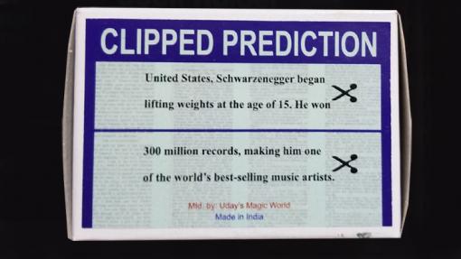 CLIPPED PREDICTION (Schwarzenegger/Elton) by Uday - Trick