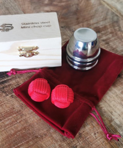 Stainless Steel Mini Chop Cup (with Chop Cup Balls)