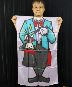 Character Silk (Magician) 35 X 43  by JL Magic - Trick