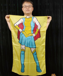 Character Silk (Super Girl) 35 X 43  by JL Magic - Trick